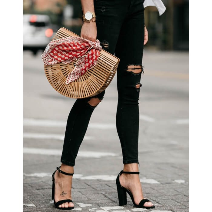 Bamboo Basket clutch bag