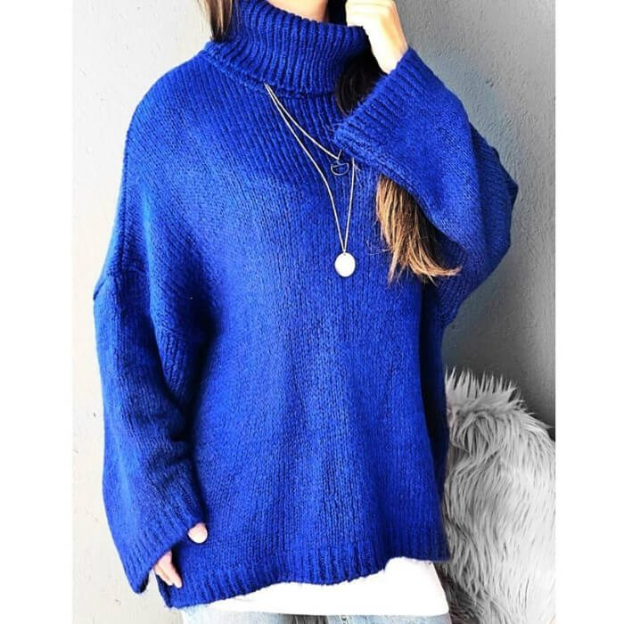 Blue Oversized Knit