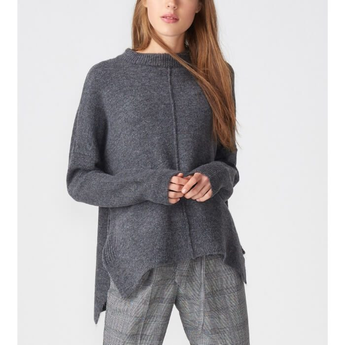 Dark grey zip sweater