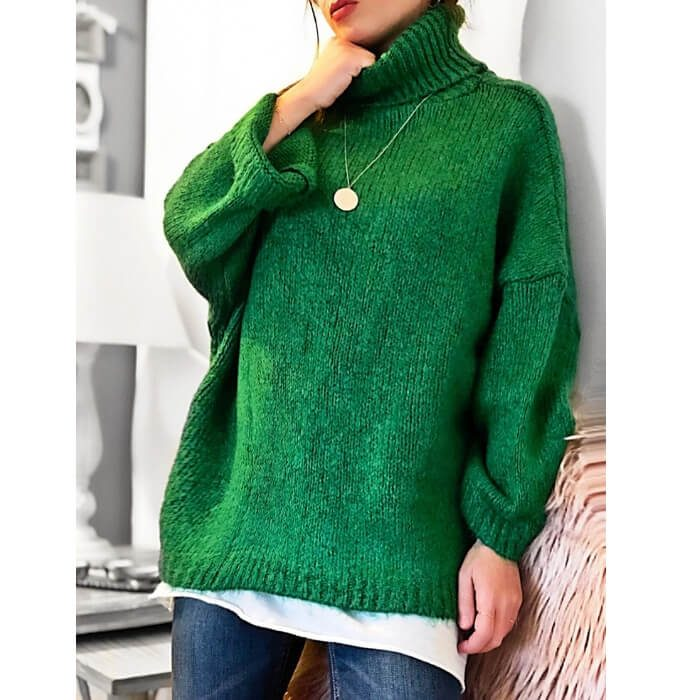 Green Oversized knit