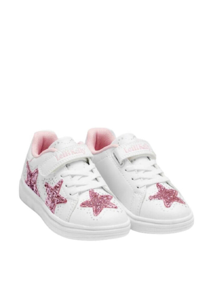 Lelli Kelly sneakers Glimmer λευκό-ροζ