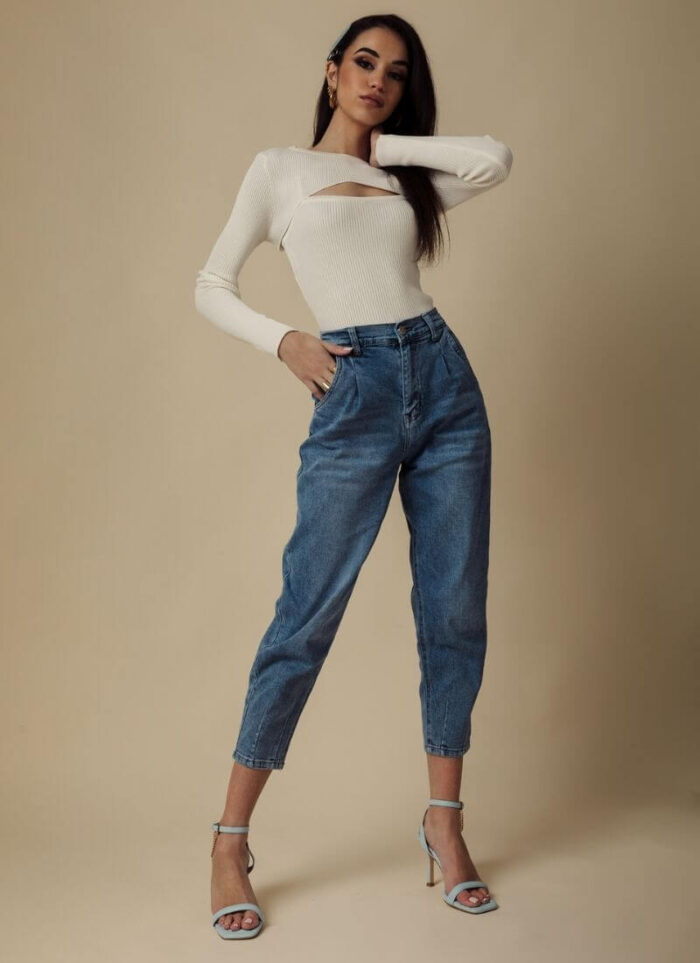 Lilith high-waisted jean μπλε