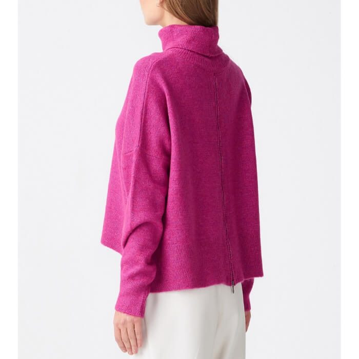 Magenta zip sweater