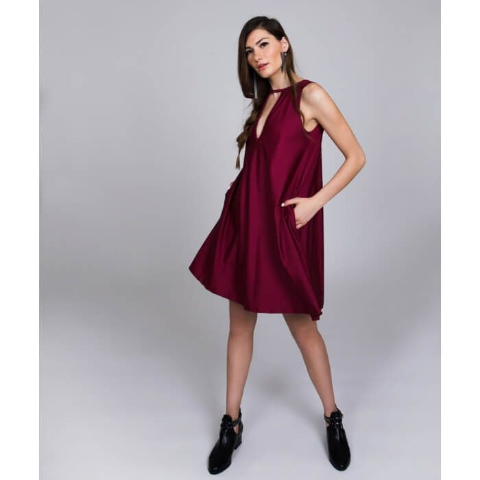 PCP In The Deep Mini Dress Cherry