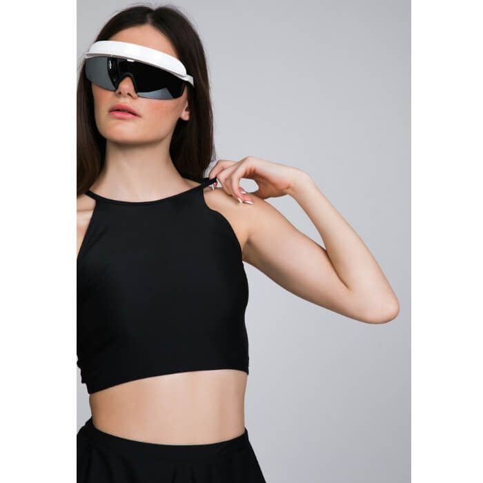 PCP Lust Raglan Crop Top Black