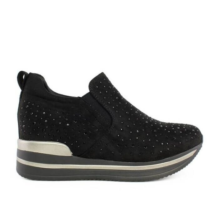 Sneakers Lety Suede Strass