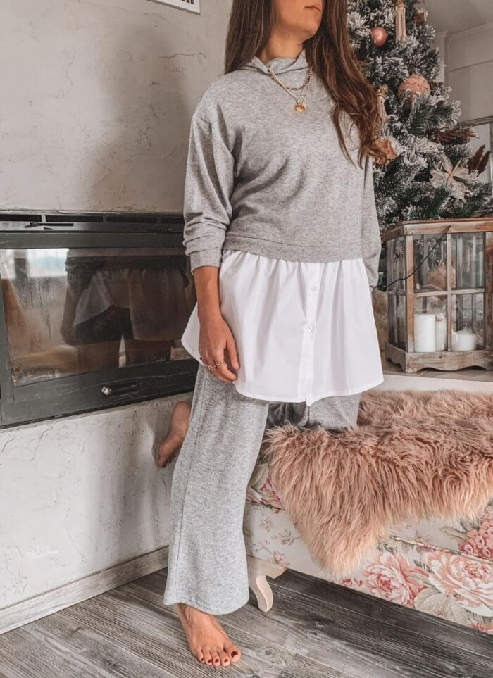 Angel set Loungewear grey