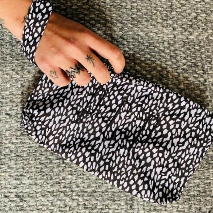 PCP Τσάντα Clutch Leopard Black
