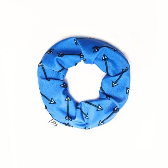 PCP Printed Scrunchie Kiddo Arrows Blue