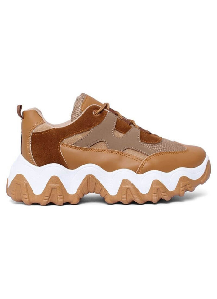 Sneakers Agnes chunky ταμπά