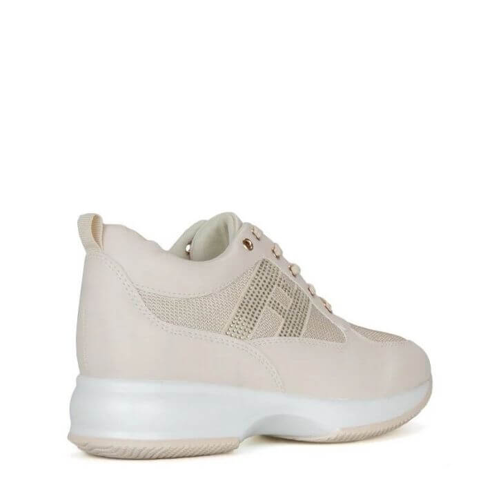 Sneakers Astra strass cream