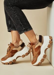 Sneakers Macy chunky ταμπά