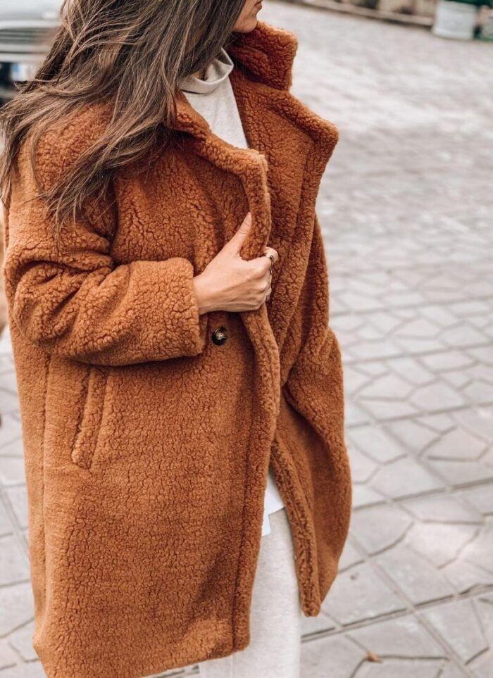 Teddy Fluffy Coat ταμπά